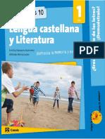 Cuaderno de Vacaciones Lengua Castellana 1 de Eso