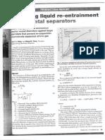 Predicting Liquid Re-Entrainment in Horizontal Separators