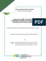 Aplicação do SMR na avaliação da estabilidade de taludes de escavação em grauvaques da Formação de Mértola