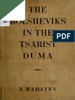 the Bolsheviks in Tsarist dum