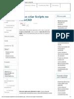 Como Criar Scripts No AutoCAD