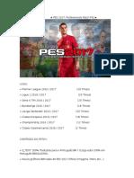 CONTEUDO DO PATCH ★ PES 2017 Professionals Patch ★