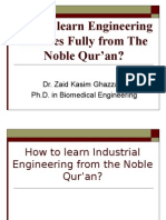Learning Industrial Engineering from The Qur'an