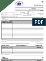 DepEd Official Form 137-SHS 2016