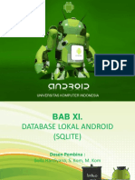 11. Database Lokal Android (Sqlite)