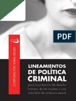 Lineamientos de Política Criminal-Sisma