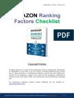 Amazon Ranking Factors Checklist