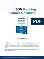 Amazon Ranking Factors Checklist