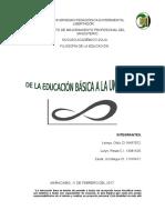 Filosofia de La Educacion de La Educación Basica a La Universidad