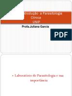 Aula 1 - Introdução a Parasitologia Clínica