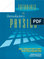 Tutorial in Introduction Physics -Tutorials Book