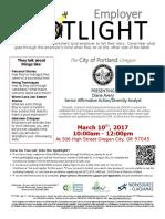 Employer Spotlights March 2017