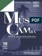 Música de Câmara | Fevereiro 2017 | Programa de Sala