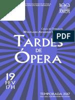 Tardes de Ópera | Fevereiro 2017 | Programa de Sala