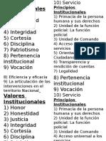 Valores Institucionales