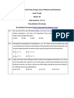 Online Quiz on Work Power Kinematics_ and Laws of Motion