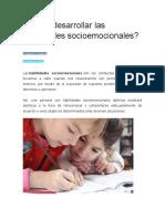 ¿Cómo Desarrollar Las Habilidades Socioemocionales