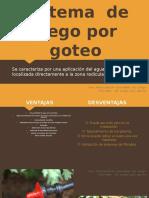 Sistema de Riego Por Goteo y Subterráneo