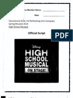 Hsm 2015 Official Script