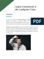 9 Claves Para Convencer a Alguien de Cualquier Cosa Word