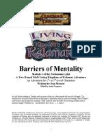 Kingdoms of Kalamar - Living Kalamar - Barriers of Mentality