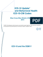 Icd10 Update Mental health