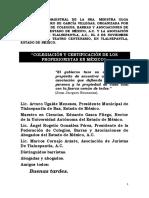 """""""Colegiación y Certificación de Los Profesionistas en México"""