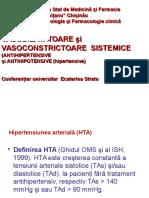 1.Vasodilatatoare Şi Vasoconstrictoare Sistemice