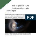 Alineamiento de Galaxias y Una Posible Invalidez Del Principio Cosmológico