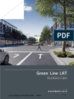 City of Calgary Green Line LRT business case report, November 2016