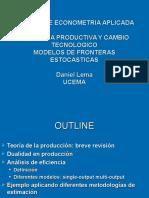 Eficiencia Modelos de Fronteras Estocasticas