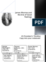 james monroe and the era of good feelings