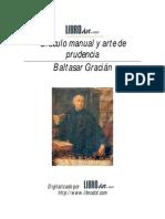 Baltasar Gracián  Oráculo manual y arte de prudencia