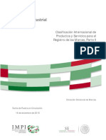 Clasificación Internacional de Productos y Servicios para el Registro de las Marcas, Parte II
