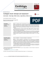 Cardiogenic Shock Inotropoe and Vasopresors