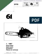 Husqvarna 61 (1987) Parts List