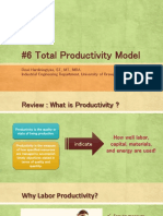 P6 Anprod Total Productivity Model