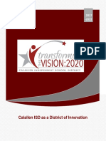 Calallen ISD as a District of Innovation