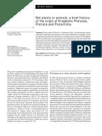 ... Origin Aof Protozoa, Protista and Protoctista (Scamardella, 1999)