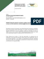 Derecho de Peticion Agroterroneras