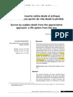 Parada, L (2007) – Duelo Por Muerte Súbita Desde El Enfoque Apreciativo. Una Opción de Vida Desde La Pérdida.