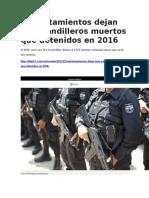 Diario 1 - Enfrentamientos Dejan Más Pandilleros Muertos Que Detenidos en 2016 - 05 01 2017