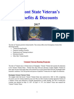 Vet State Benefits & Discounts - VT 2017