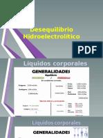 Desequilibrio hidroelectrolítico.