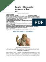 Guía Informativa No 01 - Filosofía Decimo.