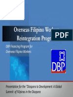DBP-OfWRP Overseas Filipino Workers Reintegration Program