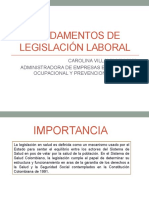 Fundamentos de Legislación Laboral CAROLINA