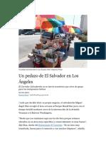 Un pedazo de El Salvador en Los Ángeles