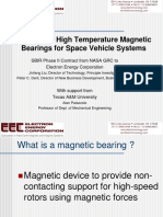 Novel High Temperature Magnetic Bearings for Space Vehicle Systems Presentation