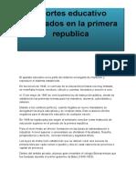Gladiber Primera Republica